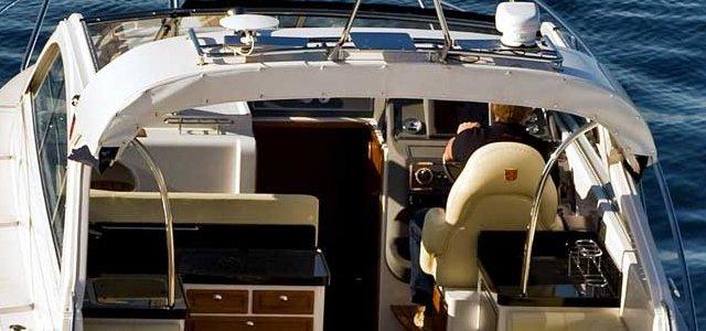 Power boat seats Navy