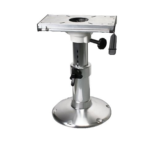 Adjustable Height Seat Pedestal with Seat Mount and  chair rail