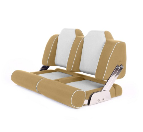 """Double boat seat """"Cruiser""""-beige leather"""