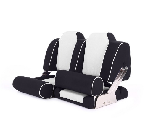 """Double boat seat """"Cruiser""""-black leather"""