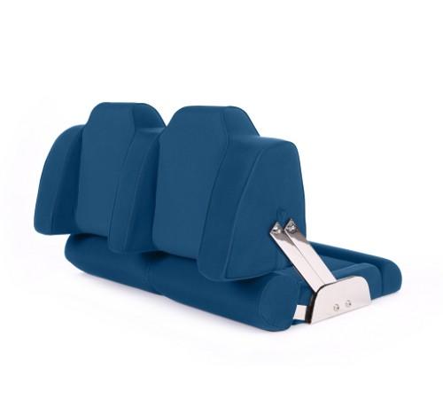 """Double boat seat """"Cruiser""""-marine blue acrylic"""