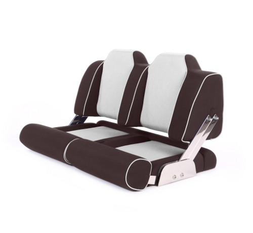 """Double boat seat """"Cruiser""""-brown leather"""