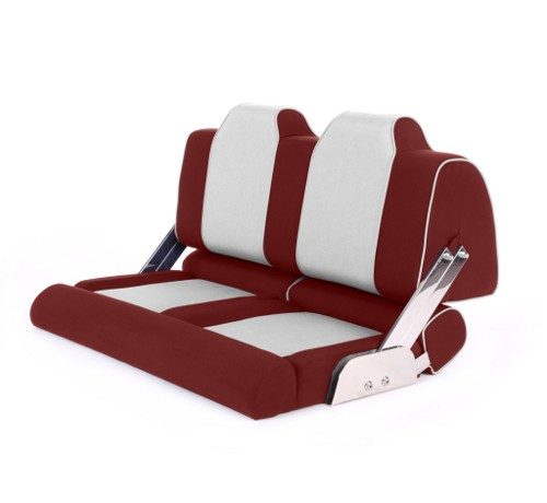 """Double boat seat """"Cruiser""""-red leather"""