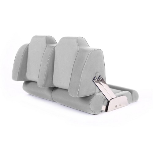 """Double boat seat """"Cruiser""""-silver acrylic"""