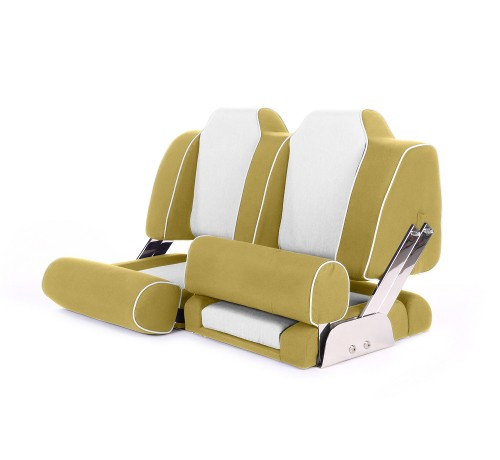 """Double boat seat """"Cruiser""""-yellow leather"""