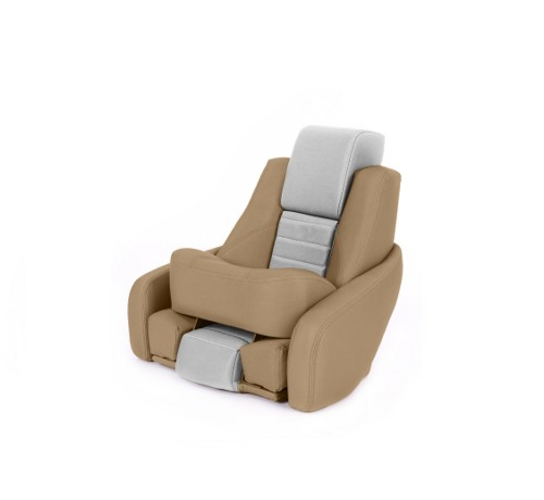 "One place pilot seat ""Captain"" beige leather"