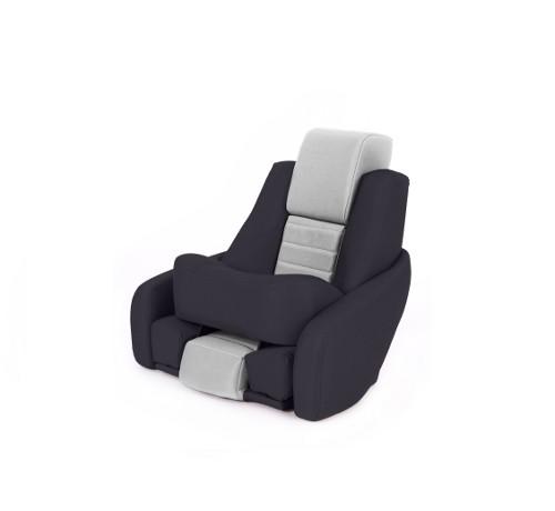 """One place pilot seat """"Captain"""" black leather"""