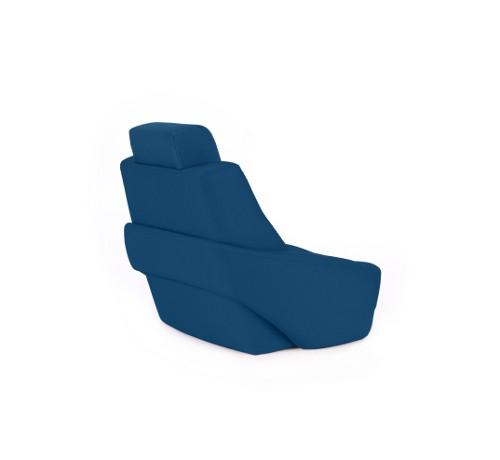 "One place pilot seat ""Captain"" marine blue acrylic"