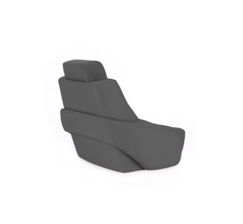 "One place pilot seat ""Captain"" charcoal grey acrylic"