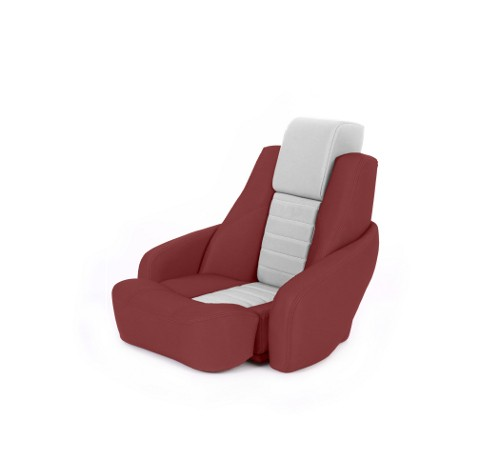 "One place pilot seat ""Captain"" red leather"