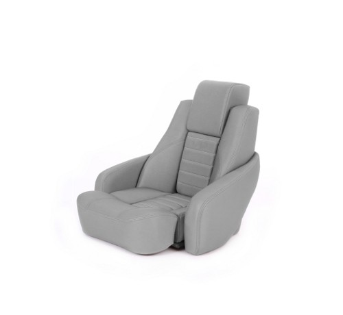 "One place pilot seat ""Captain"" silver acrylic"