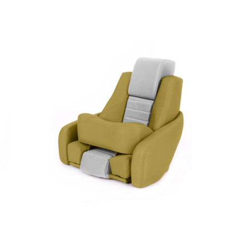 "One place pilot seat ""Captain"" yellow leather"