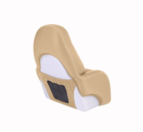 "One place pilot seat ""Navy""-beige leather"