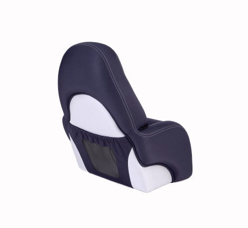 "One place pilot seat ""Navy""-blue leather"