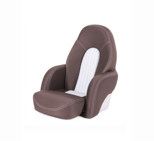 "One place pilot seat ""Navy""-brown leather"