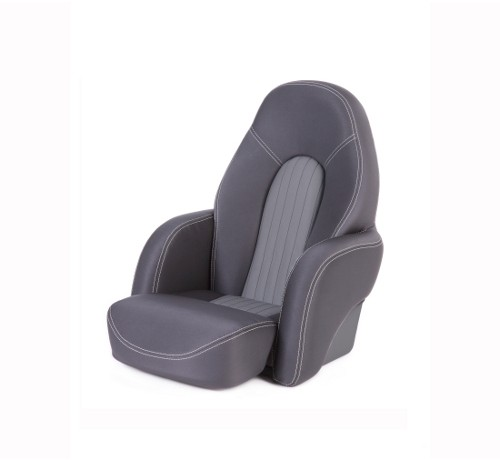 "One place pilot seat ""Navy""-charcoal grey acrylic"