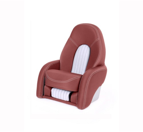 "One place pilot seat ""Navy""-red leather"