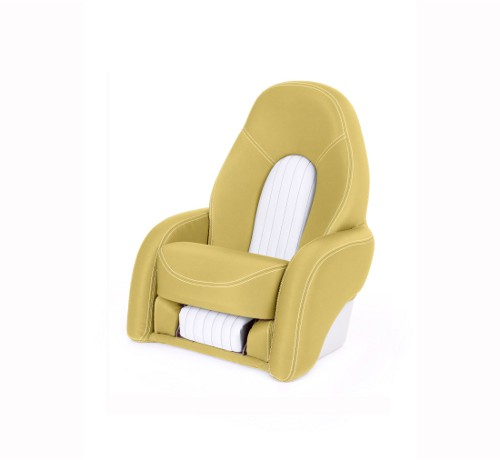 "One place pilot seat ""Navy""-yellow leather"