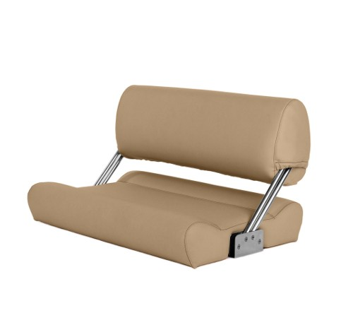 "Double boat bench ""Catamaran""-beige leather"