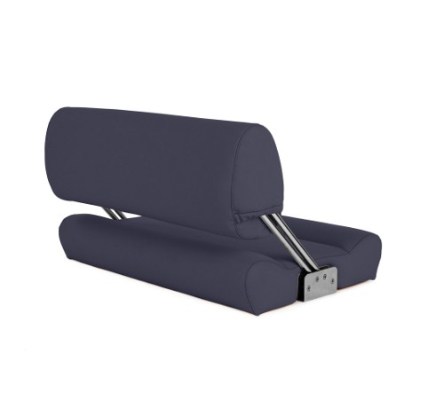"Double boat bench ""Catamaran""-blue leather"