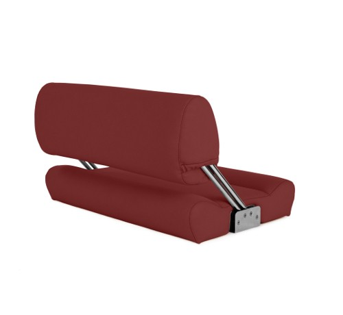 "Double boat bench ""Catamaran""-red leather"