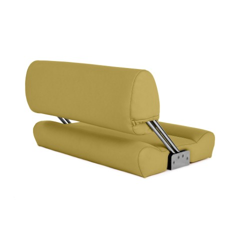 "Double boat bench ""Catamaran""-yellow leather"