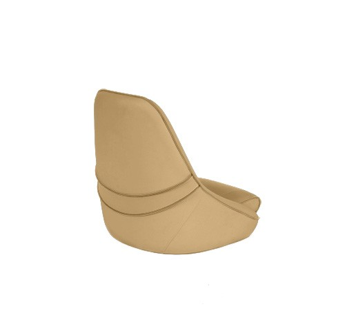 "One place pilot seat ""Canoe""-dune beige acrylic"