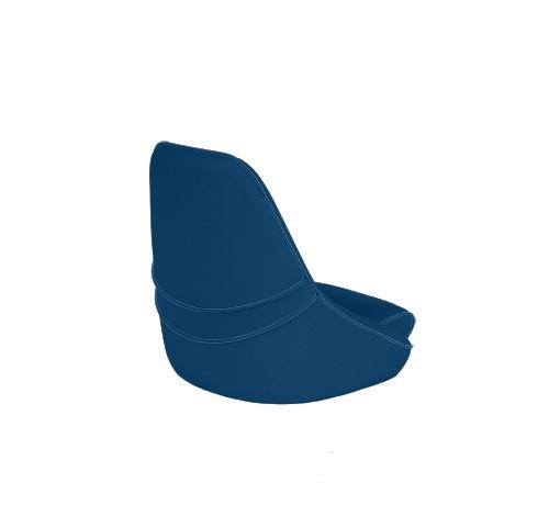 """One place pilot seat """"Canoe""""-marine blue acrylic"""
