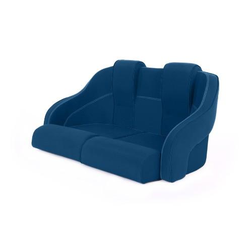 """Double boat seat """"Frigate""""-marine blue acrylic"""