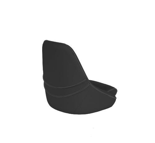 "One place pilot seat ""Canoe""-charcoal grey acrylic"