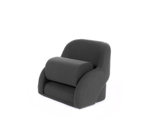 "One place pilot seat ""Cockpit""-charcoal grey acrylic"