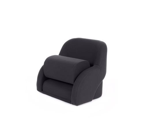"""One place pilot seat """"Cockpit""""-black artificial leather"""