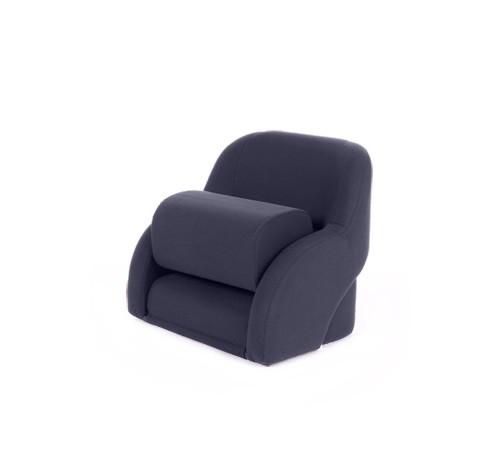 """One place pilot seat """"Cockpit""""-blue artificial leather"""
