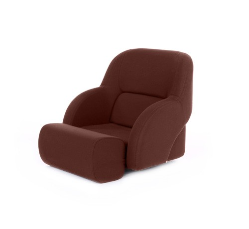 "One place pilot seat ""Cockpit""-brown artificial leather"