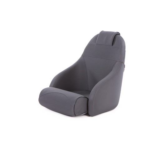 """One place pilot seat """"Boreas""""-charcoal grey acrylic"""
