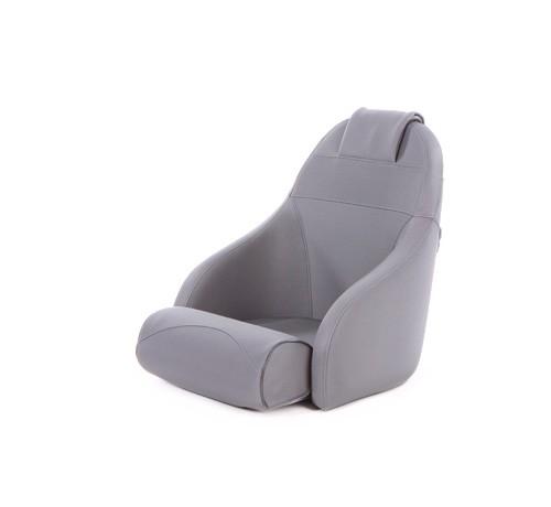 "One place pilot seat ""Boreas""-silver acrylic"