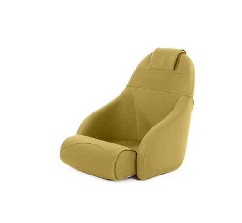 """One place pilot seat """"Boreas""""-yellow leather"""