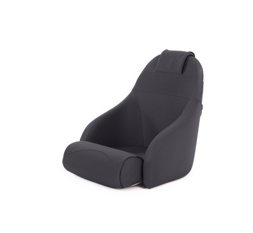 "One place pilot seat ""Boreas""-black acrylic"