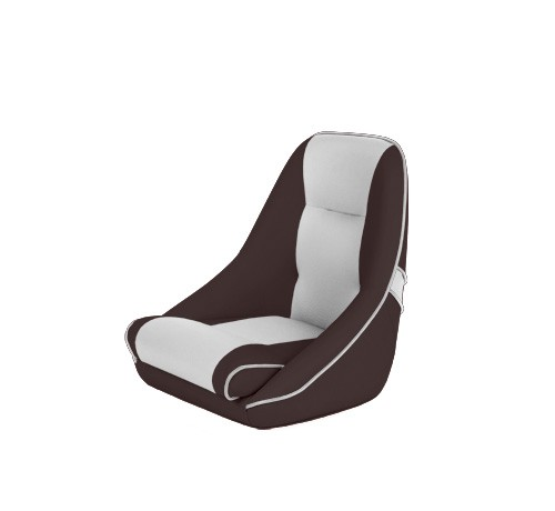 """One place pilot seat """"Canoe""""-brown white leather"""