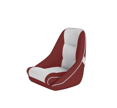 """One place pilot seat """"Canoe""""-red white leather"""