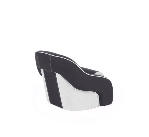 "One place pilot seat ""Regatta""-black white leather"