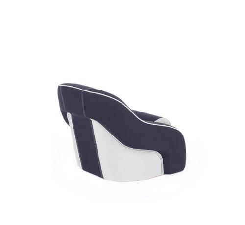 "One place pilot seat ""Regatta""-blue white leather"