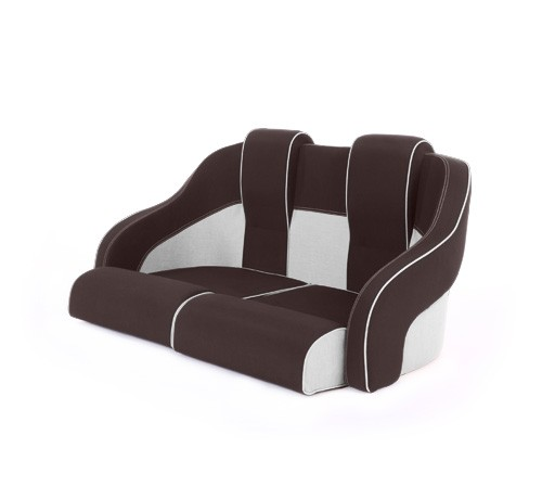 """Double boat seat """"Frigate""""-brown white leather"""