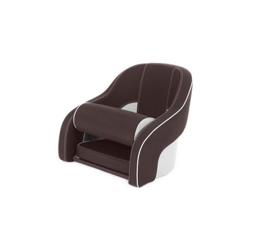 "One place pilot seat ""Regatta""-brown white leather"