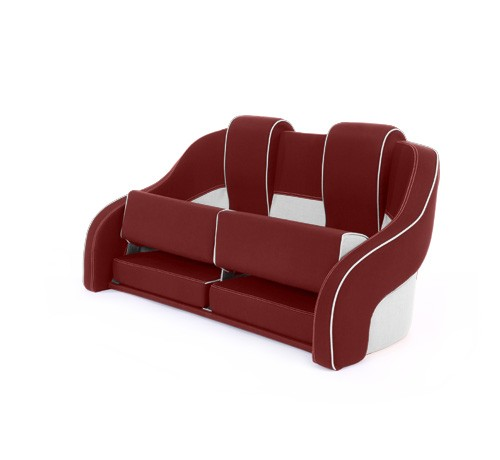 """Double boat seat """"Frigate""""-red white leather"""