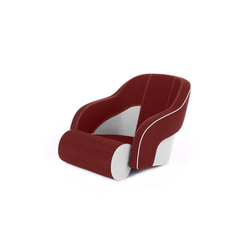 """One place pilot seat """"Regatta""""-red white leather"""