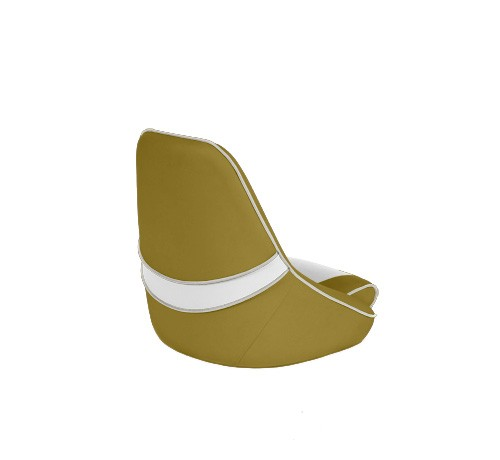 """One place pilot seat """"Canoe""""-yellow white leather"""