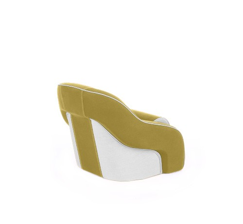 "One place pilot seat ""Regatta""-yellow white leather"
