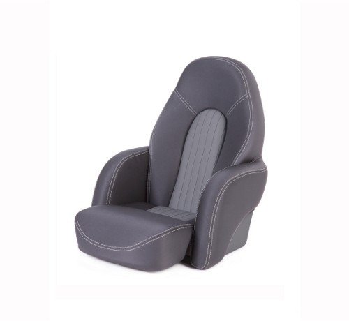 "One place pilot seat ""Navy""-black acrylic"