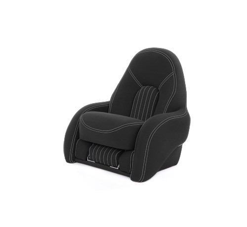 "One place pilot seat ""Navy S""-charcoal grey acrylic"